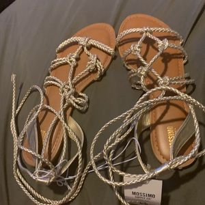 Sliver sandals size 8